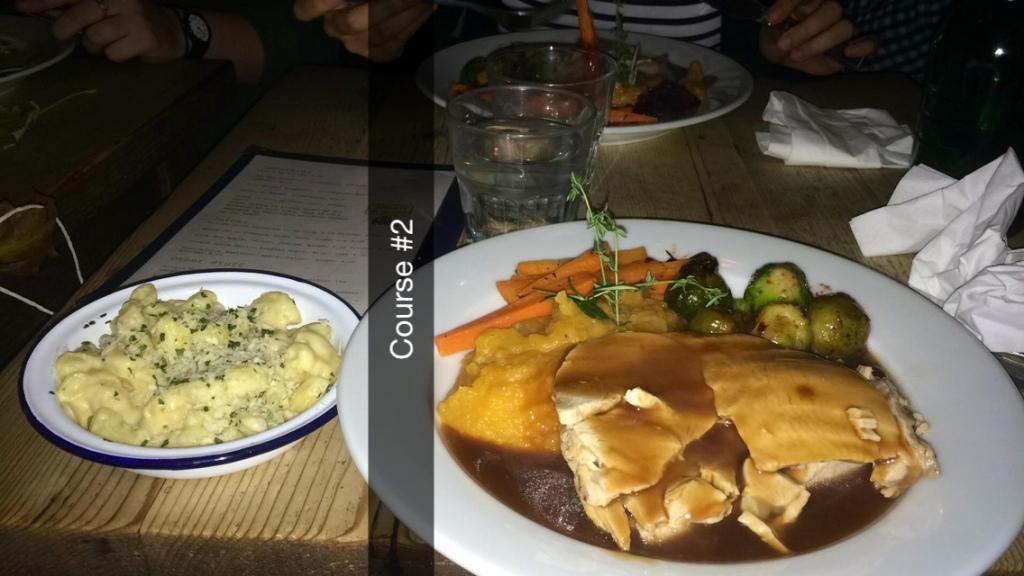 nice turkey and mac&cheese